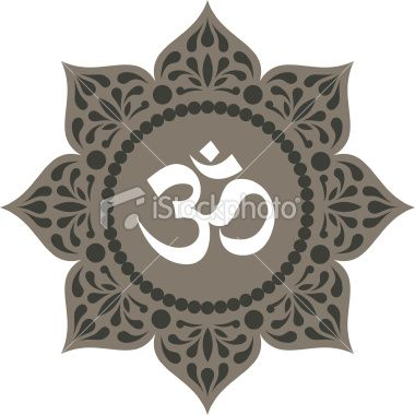 Ornamented Lotus Mandala With Om Sign With Images Om Symbol Art Mandala Lotus Mandala