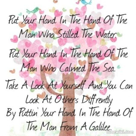 Put your hand in the hand of the man lyrics