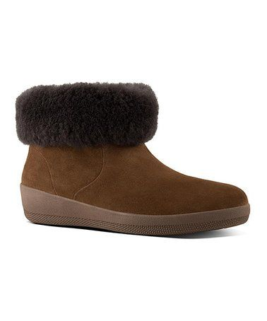 31630b1d8 Love this Chestnut Skatebootie Suede   Shearling Ankle Boot