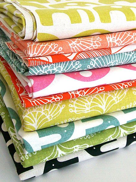 Fabric by Umbrella Prints - up there as my fave with Lotta Jansdotter.
