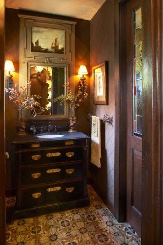 Beautiful Masculine Powder Room Powder Room Design Masculine