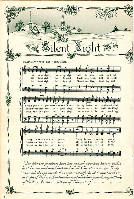 Silent Night Song Sheet....free printable
