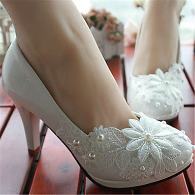 women's shoes leather spring / summer / fall stiletto heel pearl
