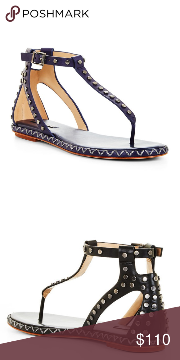 d9cb798725c0 Macall Grommet Flat T Strap Sandal Studded Leather This sun-seeking sandal  gets a tough-chic appeal from grommet-embellished trim set against smooth  ...