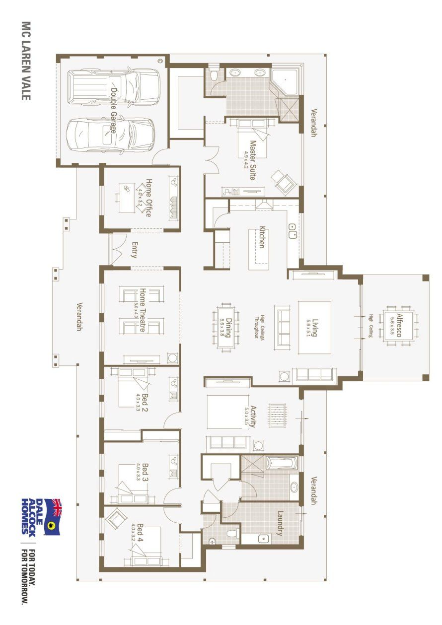 4 Bed Horizontal Not Vertical Plan Mclaren Vale Floorplan