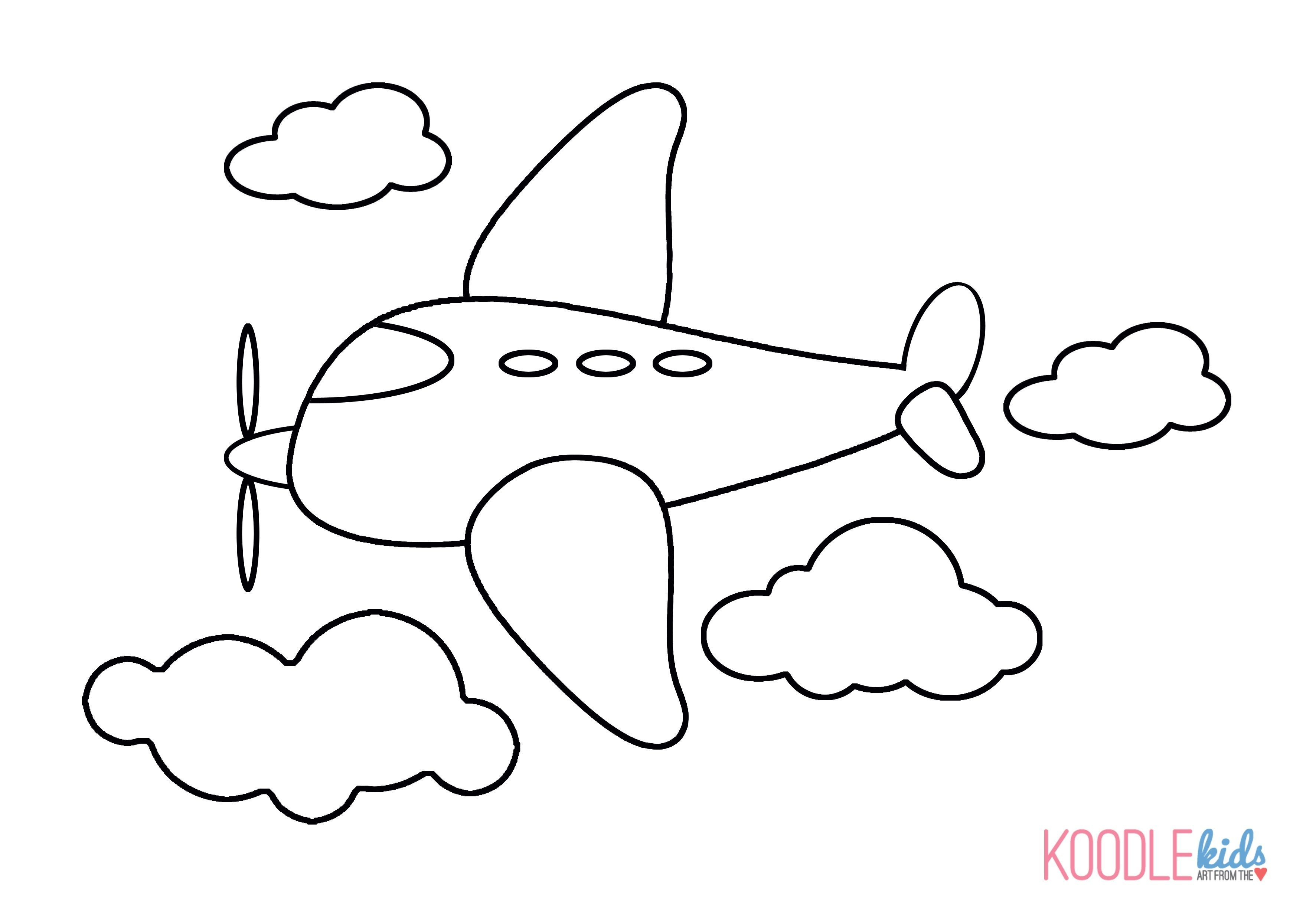Airplane Coloring Picture For Kids