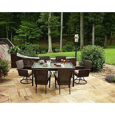 Ty Pennington Style Parkside 7pc Dining Set Resin Wicker Patio Furniture Outdoor Furniture Outdoor Furniture Sets