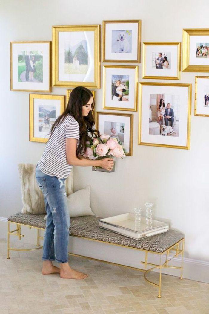 Hochwertig ▷ 1001+ Ideen Für Fotowand   Interessante Wandgestaltung | Haus | Pinterest  | Fotos, Wände Und Wandgestaltung