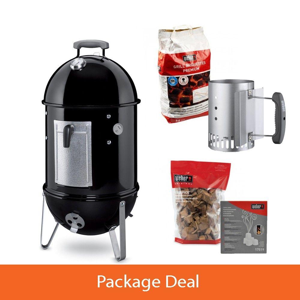 Weber Smokey Mountain Bbq Package Deal Charcoal Grill Smoker Charcoal Bbq Best Charcoal Grill