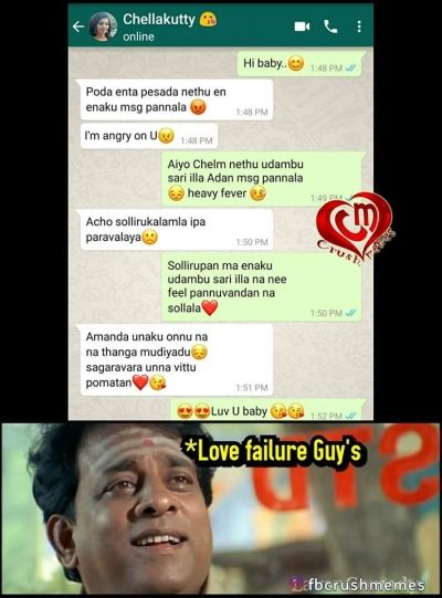 Love failure people how seeing crush whatsapp meme in 2020 ...