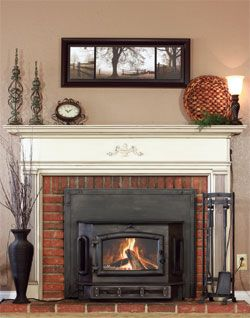 High Valley Fireplace Insert Model 2500 With Old World Trim