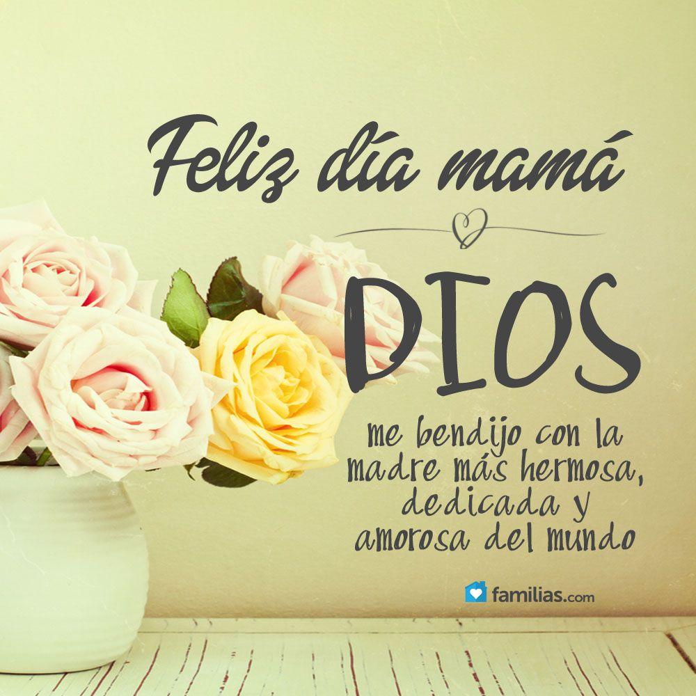 9d396c8463a19 Feliz día mamá   Mother and fathers day   Pinterest   Mamãe, Fé e Cartão