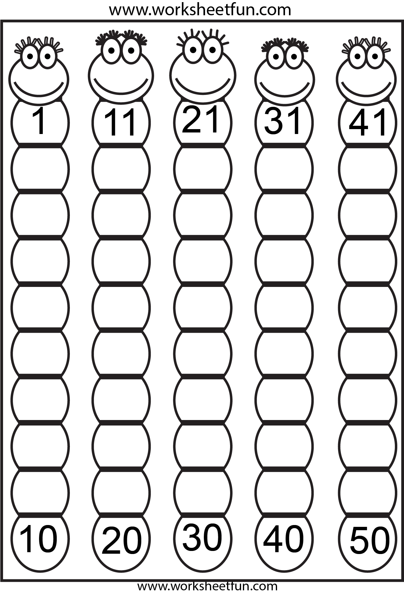 Free Missing numbers 1-50 freebie - worksheets. The whole site is ...