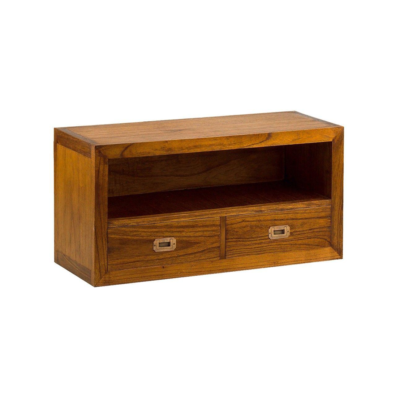 Mueble De Televisi N Compacto Con 2 Cajones Muebles Tv  # Rewind Muebles Vintage