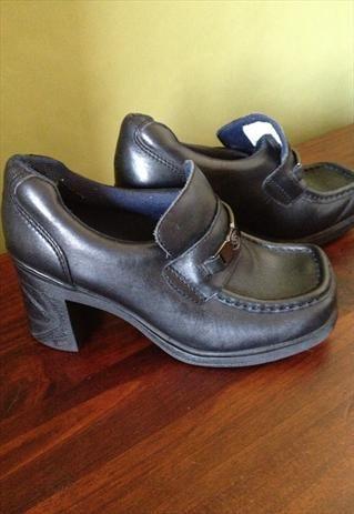 90s Grunge Chunky Heel Pod Platform Shoes | Childhood