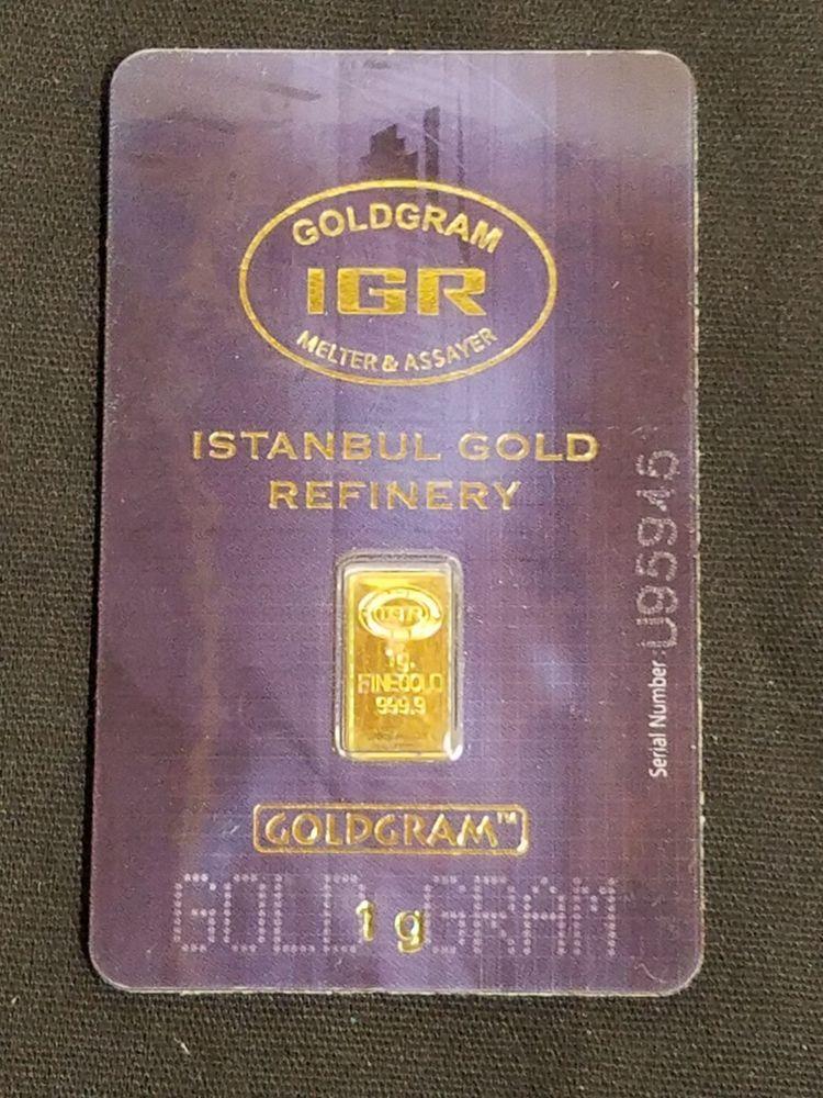 Karatbars International 1 Gram .9999 Gold Bar Sealed Certified Bullion Carded