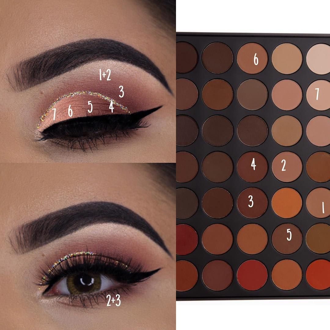 A Y E E S H A On Instagram This Was Probably One Of My Fav Looks Using The Morphe 35om Palette Brows Makeup Morphe Makeup Palette Eye Makeup Tutorial