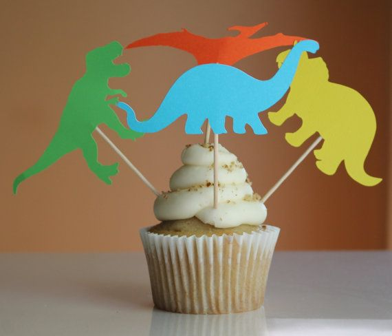 Dinosaur Cupcake Topper Dinosaur Decoration Dinosaur Birthday