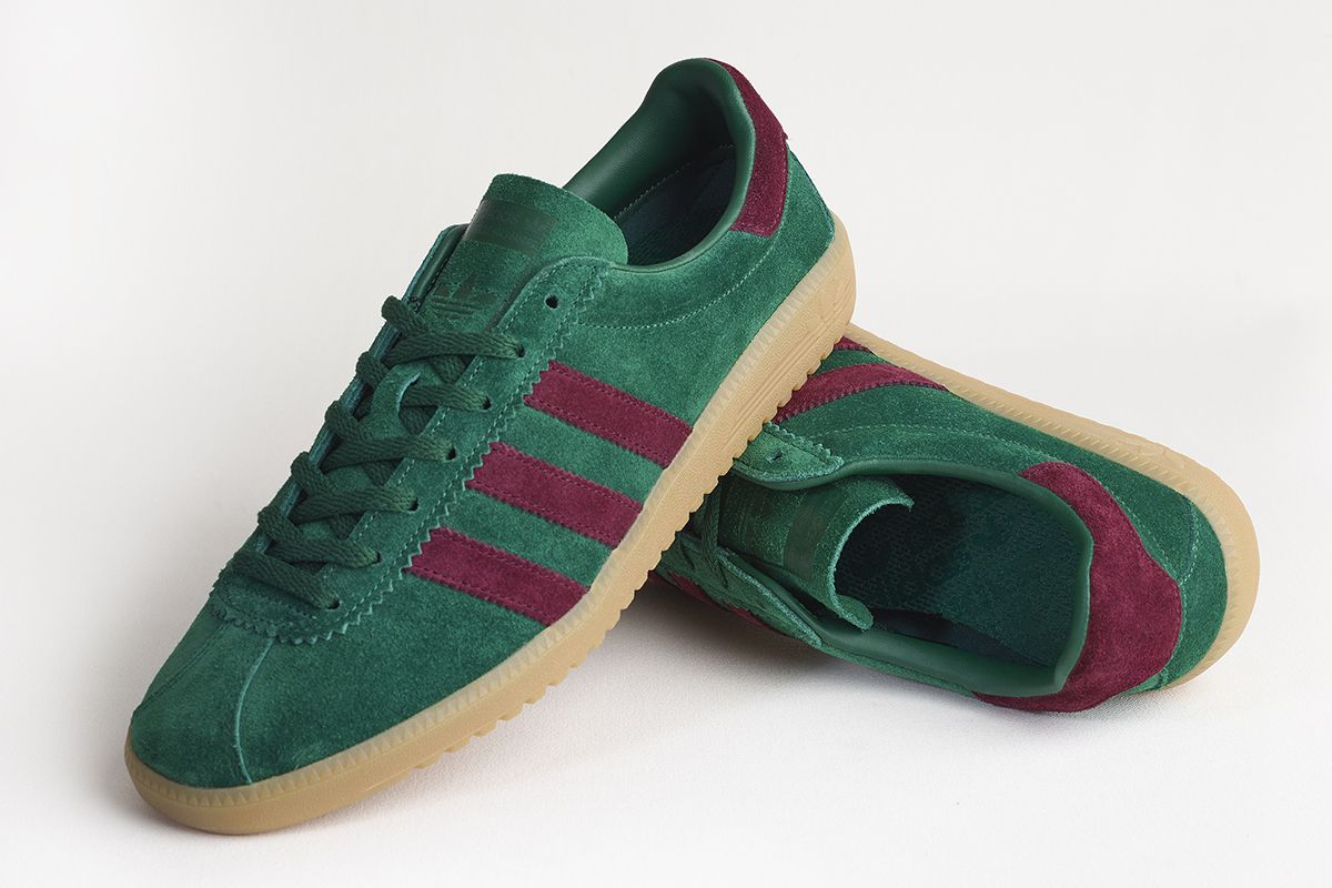 adidas Originals Bermuda Size Exclusive pine green maroon 3 Size?  Exclusive: adidas Originals Bermuda