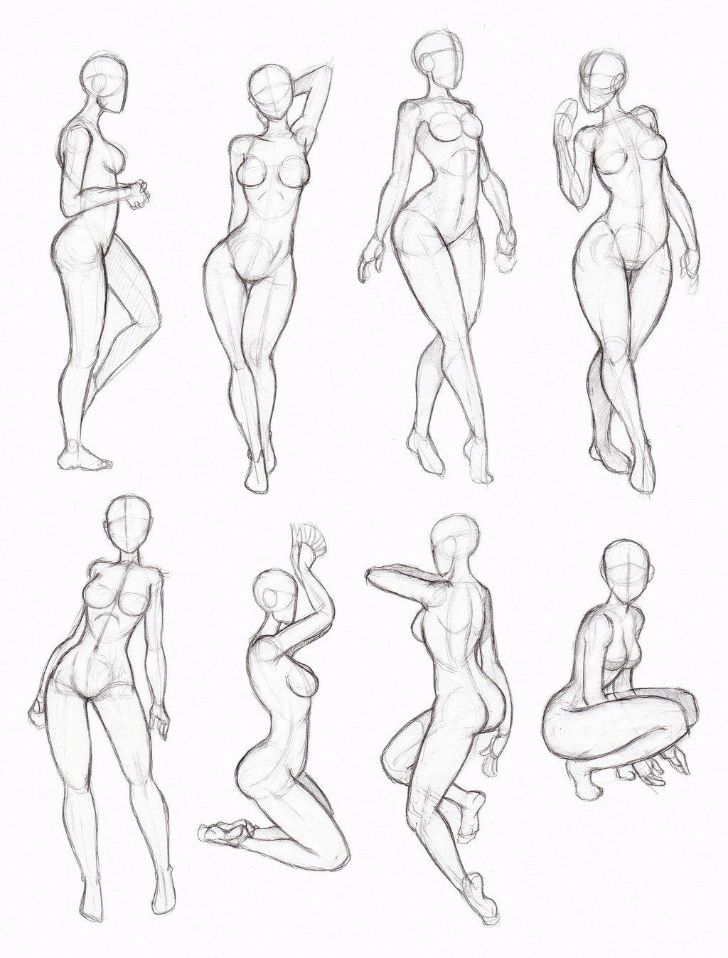 tipos de poses: mujer, manga | Anime | Pinterest | Tipos de poses ...