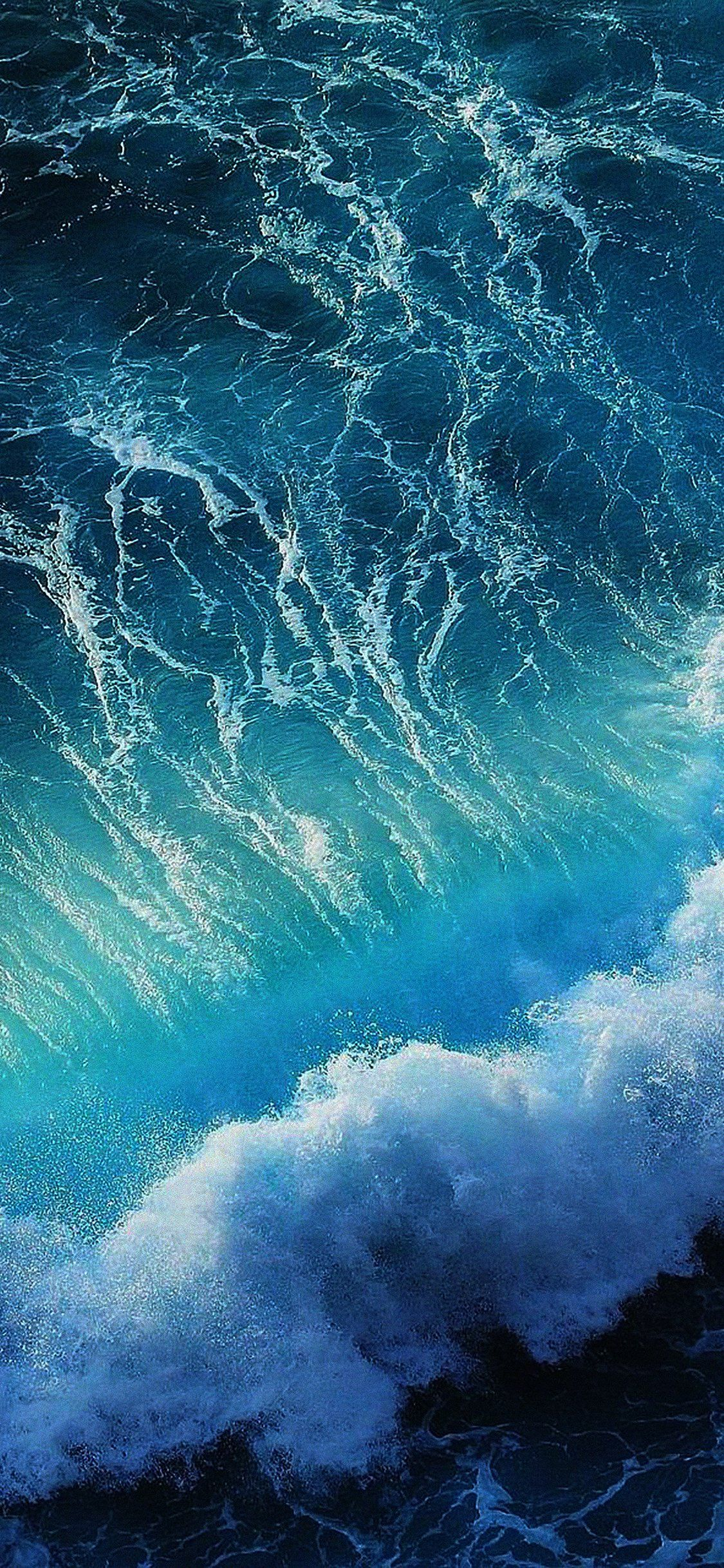 Wave Ocean Iphone X Waves wallpaper, Ocean waves, Ios 11
