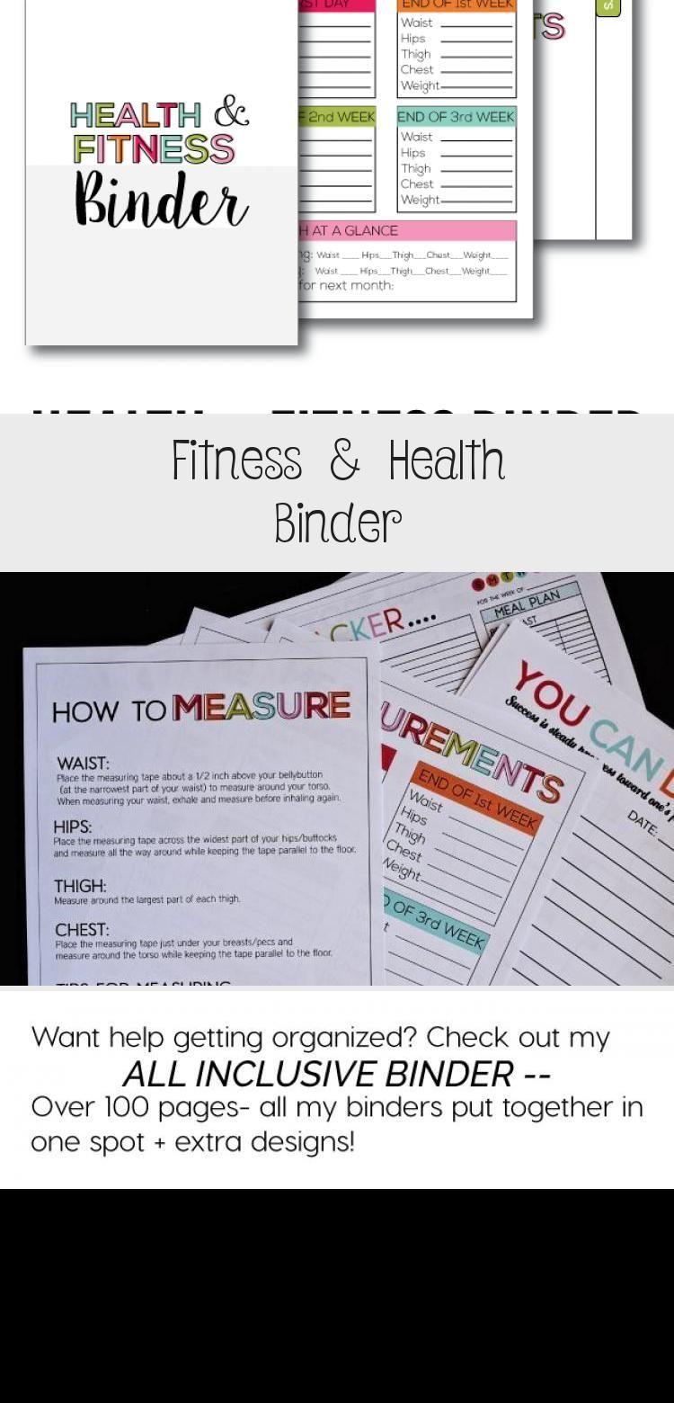 Fitness & Health Binder -  Printable Fitness & Health Binder – print over 20 printables to help you...