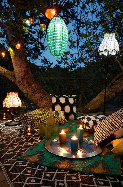 Verwonderlijk Tuindecoratie sfeerverlichting picknick in het park (met QZ-81