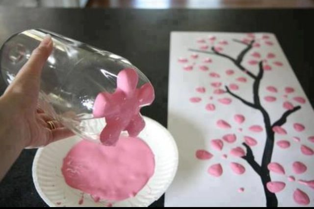 2 Liter Cherry Blossom Painting