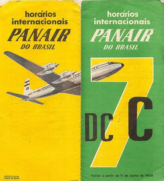 Vintage Airline Timetables: Panair do Brasil 1959
