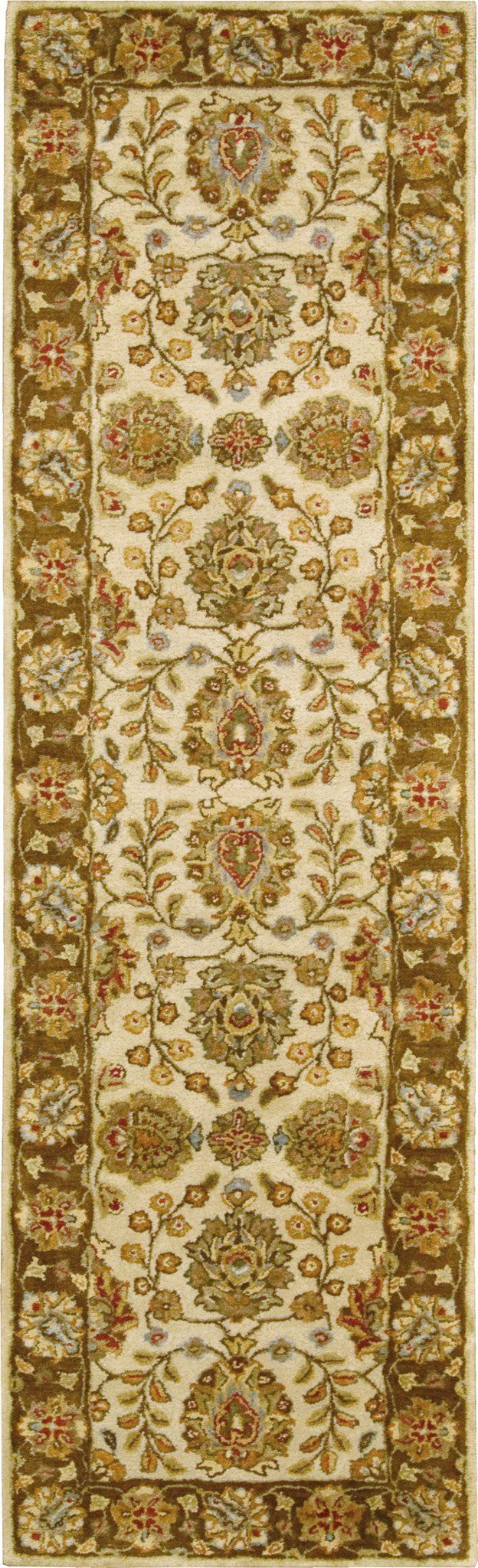 "Jaipur Ivory Brown Area Rug 2'4"" x 8'"