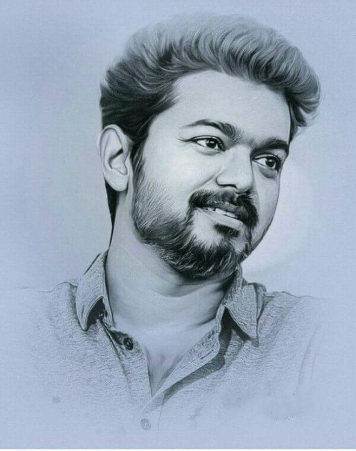 Pin By Suji On Vijay Actor Celebrity Drawings Portrait Sketches Vijay Actor