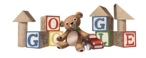 Webpage Screenshot New Tab Doodles, Children's day