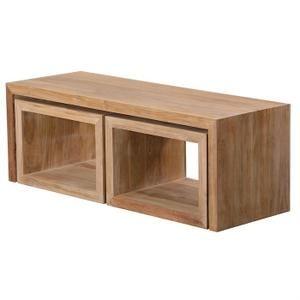 Table Basse Rectangulaire Sawangan En Teck Massif - Achat / Vente table basse Table Basse Rectangulaire      - Soldes* d'été Cdiscount