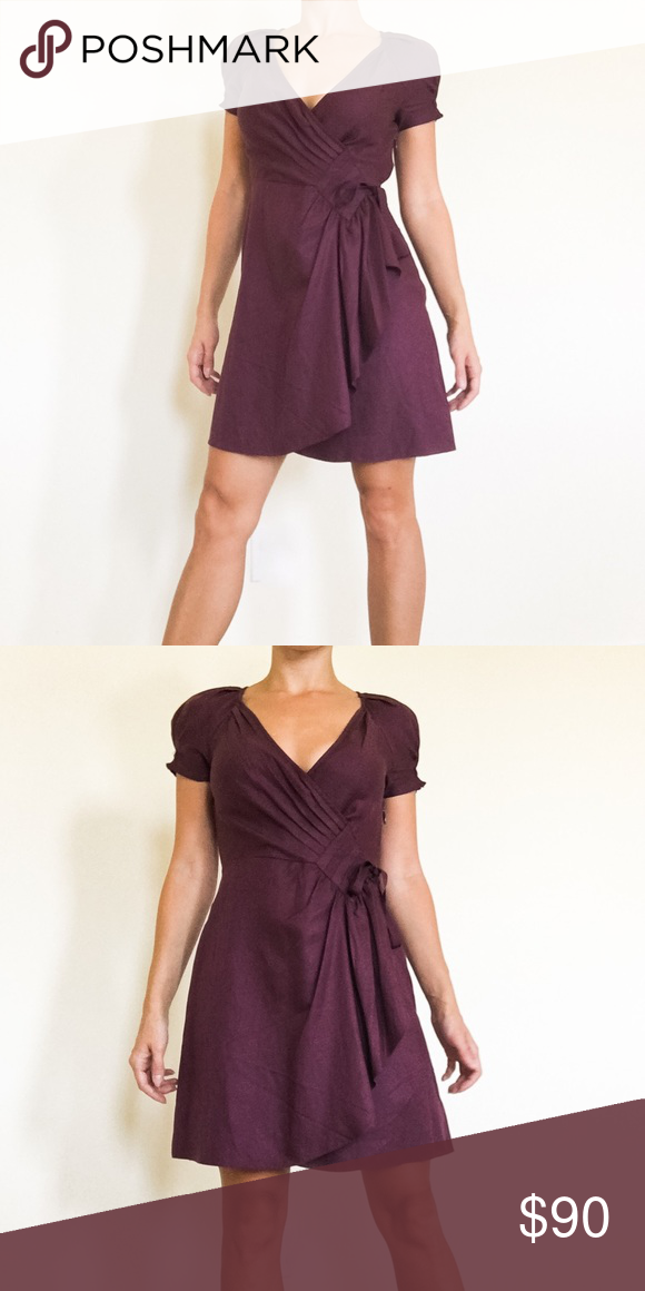 Juicy Couture burgundy silk dress Gorgeous silk/cotton dress from Juicy Couture. Like new. Deep V cut. Absolutely stunning! Juicy Couture Dresses Mini