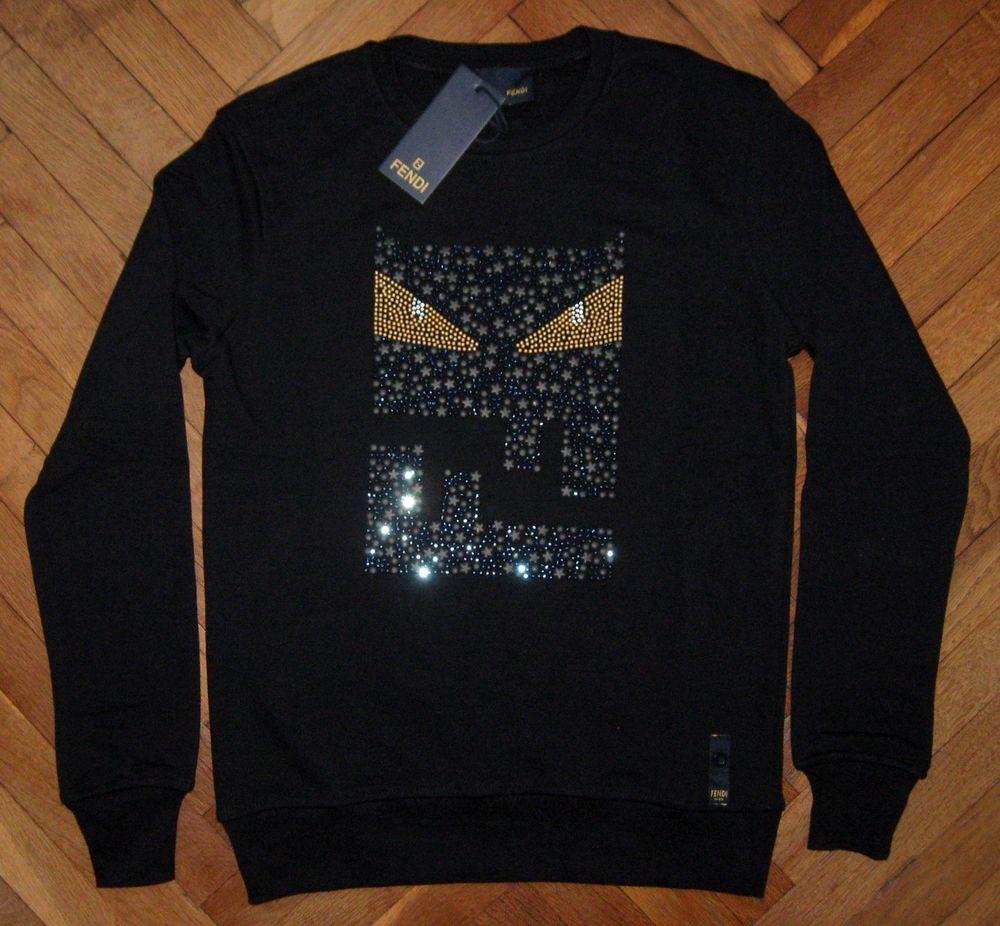 Men's New FENDI Sweater Jumper Pullover Tshirt Long