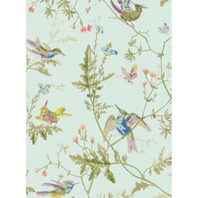 Hummingbirds - Designtapete von Cole & Son, PapiertapeteHummingbirds ist ein romantischer Floraldruck, der Kolibris zeigt, die sich auf Blumen und Blattwerk niedergelassen haben. Ursprünglich handelte es sich bei diesem Design um eine handgemachte Blockdruck-Tapete aus dem Cole & Son - Archiv. Nun wird die Tapete im Oberflächendruck hergestellt wodurch sie eine wunderschön reichhaltige Textur erhält.Hummingbirds gibt es bei uns in zwei Farbvarianten.