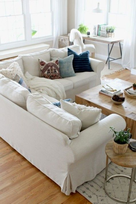 white sectional Ektorp sofa will accomodate all your guests - ikea ektorp gra