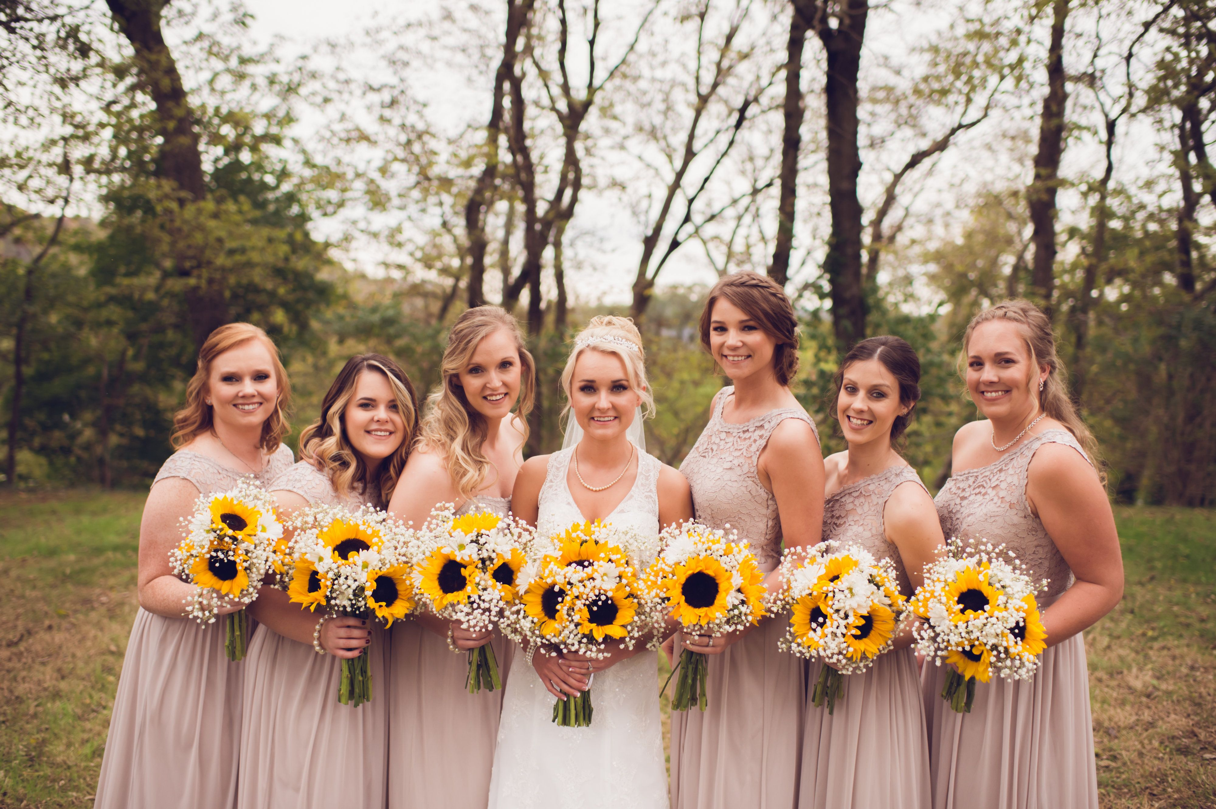David S Bridal Bridesmaid Dresses Biscotti Bridesmaid Dresses Taupe Bridesmaid Dresse Sunflower Bridesmaid Bouquet Sunflower Themed Wedding Blush Wedding Theme
