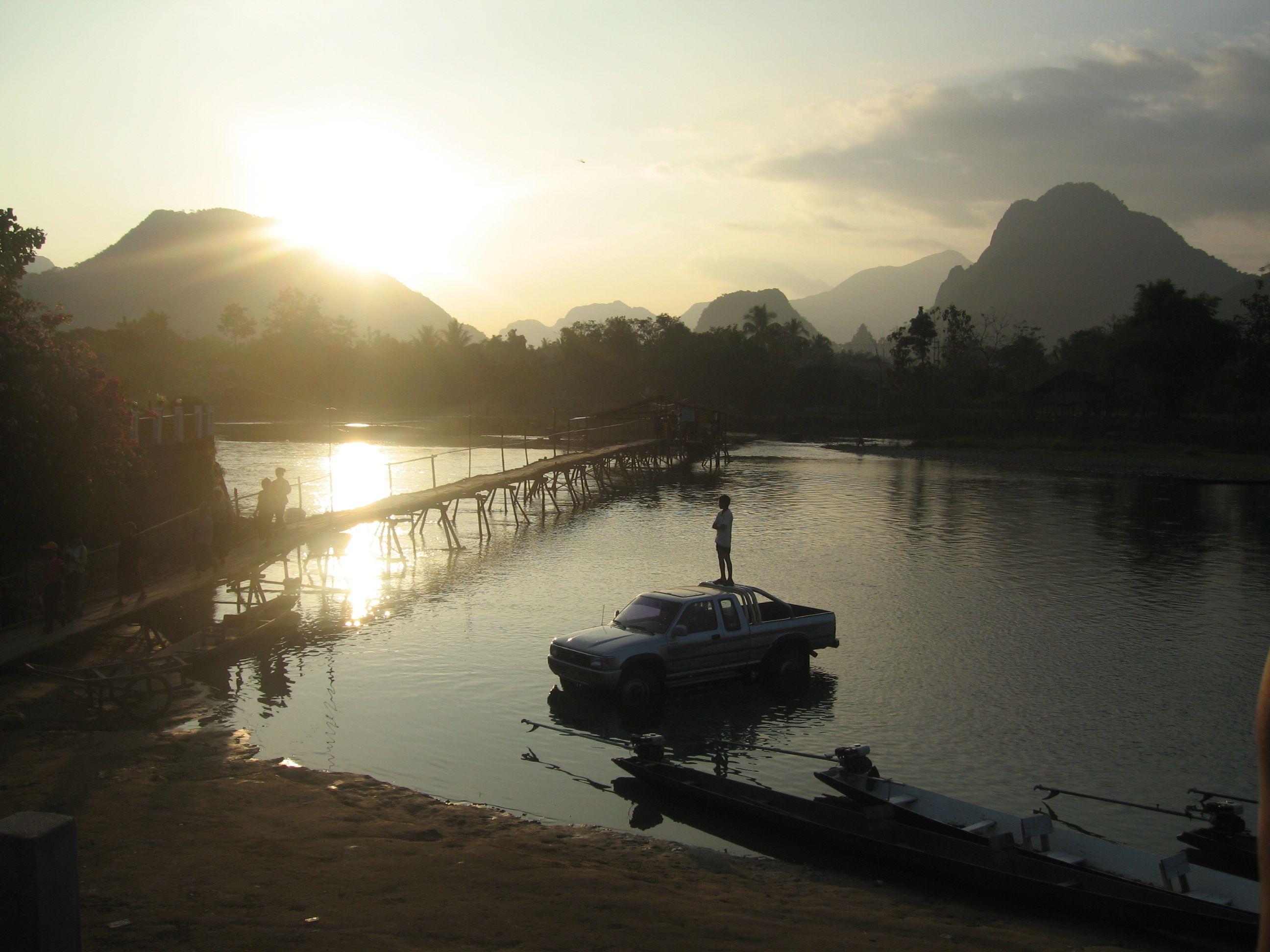 River, Vang Vieng, Laos