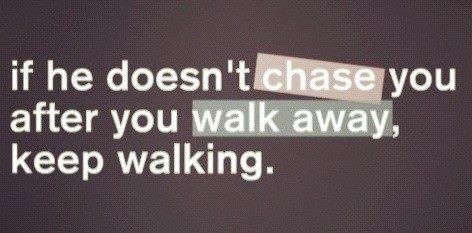 Ahhh freakin mennnn. Girls it may be hard but we're strong enough to walk away.