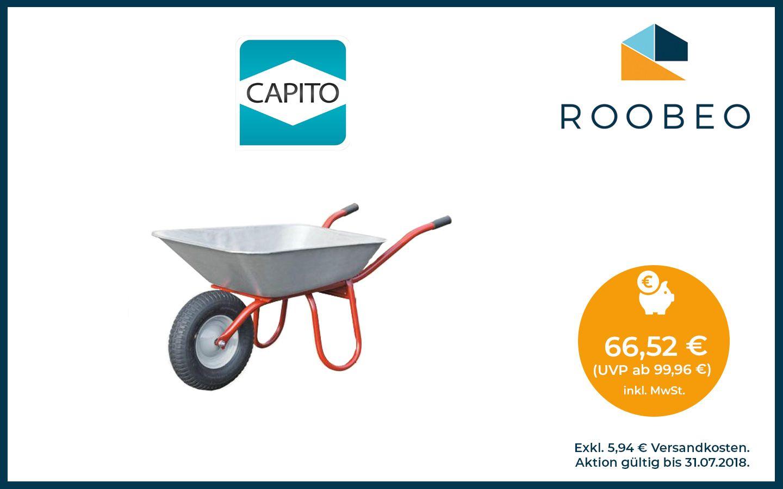 Schubkarre Carry von CAPITO . Muldentragender Stahlrohr-Rahmen und ...