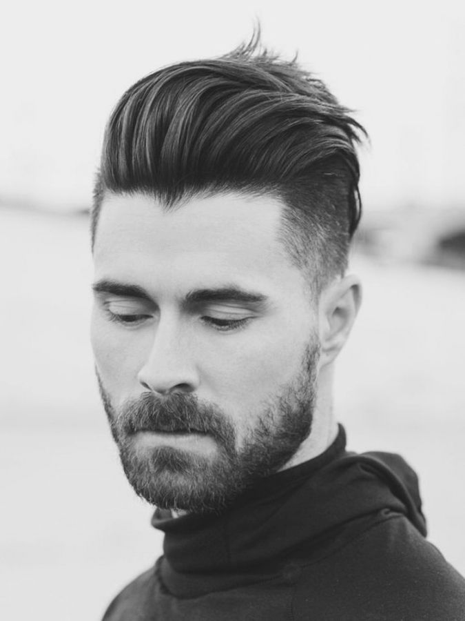 Trend Männer Frisuren Oben Lang Seitlich Kurz