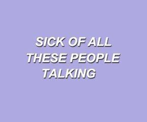 s i c k o f a l l t h i s n o i s e purple aesthetic lavender