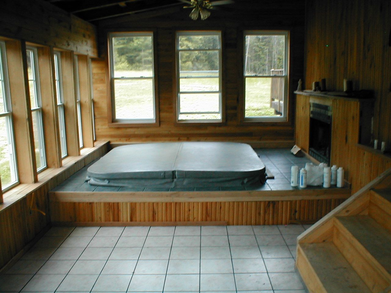 Pin By Christi Smith On Cabin Hot Tub Room Indoor Hot Tub Inground Hot Tub
