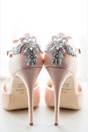 pink wedding shoes with silver embellishments - brides of adelaide ...