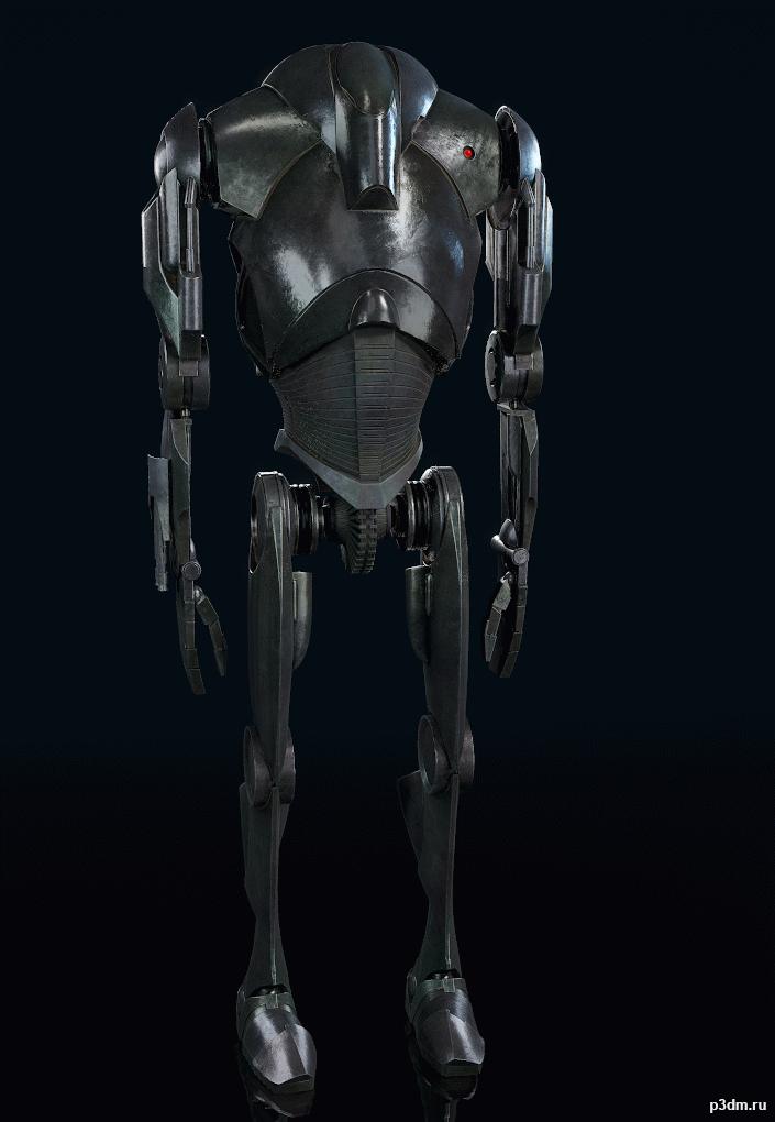 Star Wars Battlefront Ii B2 Battle Droid Pack 3d Models Star Wars Battlefront Battle Droid Star Wars Droids