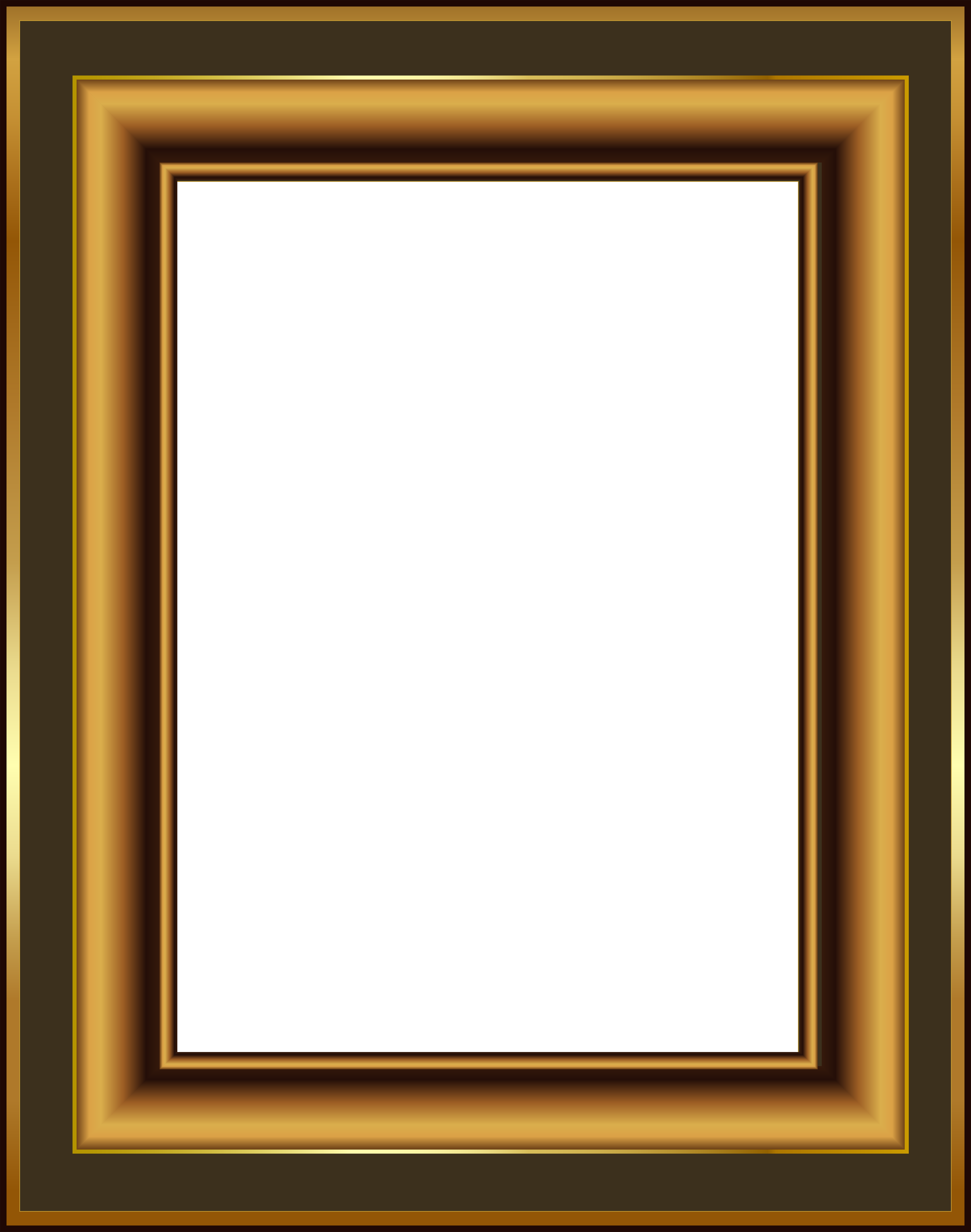 Brown and Gold Classis Transparent PNG Frame | Gallery Yopriceville ...