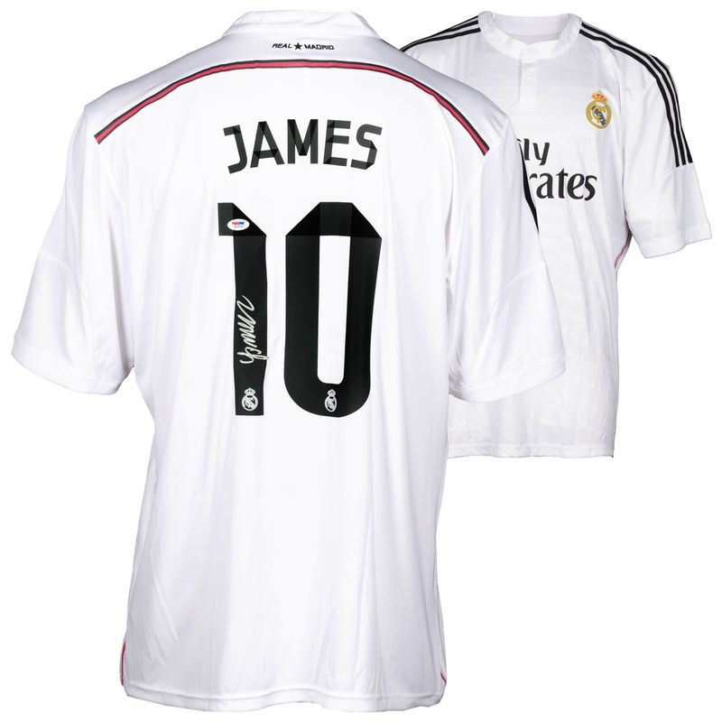 419821fb8 James Rodriguez Real Madrid Fanatics Authentic Autographed White Jersey