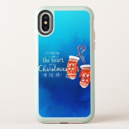 elegant christmas in the heart iphone x case
