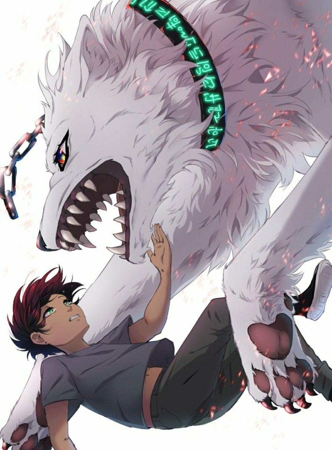 Lumine And Kody Anime Webtoon Comics Anime Wolf
